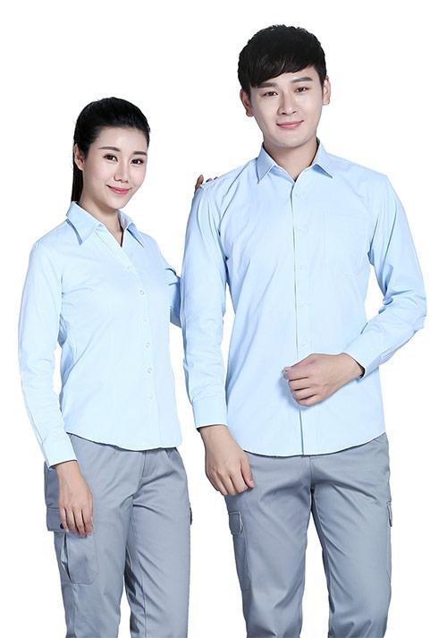 浅蓝衬衫定做