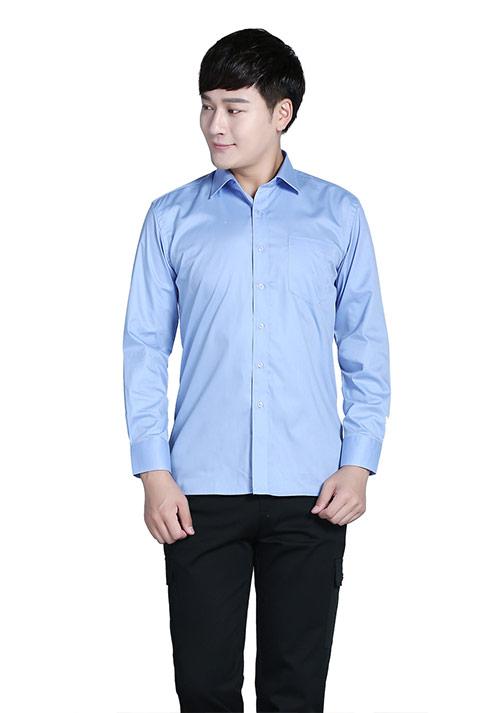 蓝色衬衫定制
