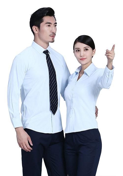 淡蓝色立领衬衫定制