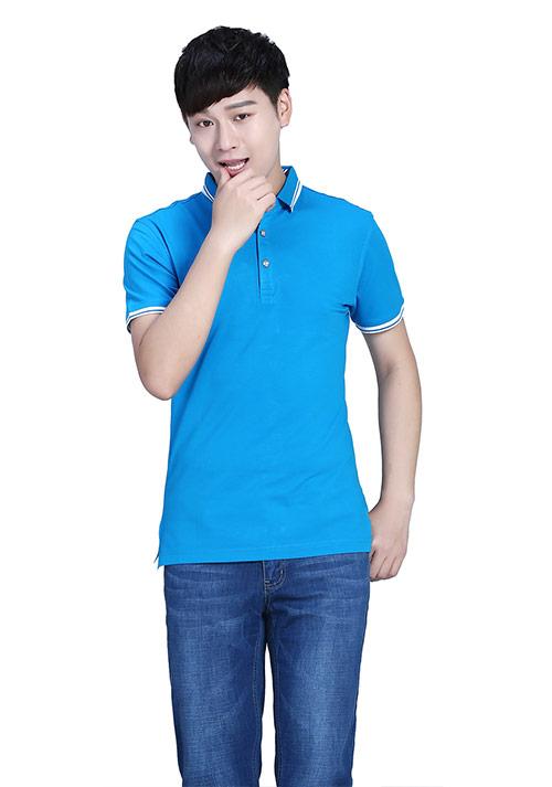 蓝色定做T恤