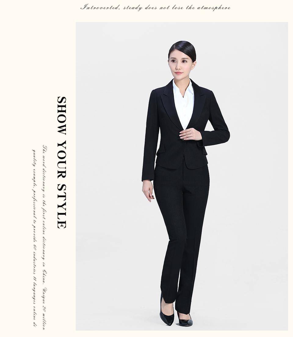 黑色商务黑色套装